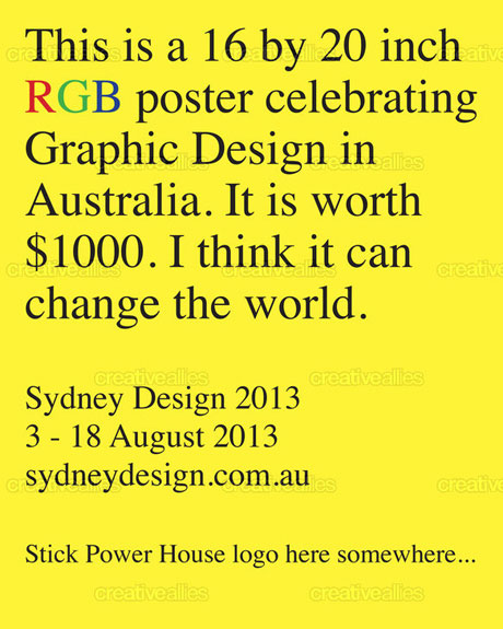 Sydney Design poster